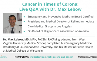 Dr. Max Lebow - Cancer in Times of Corona