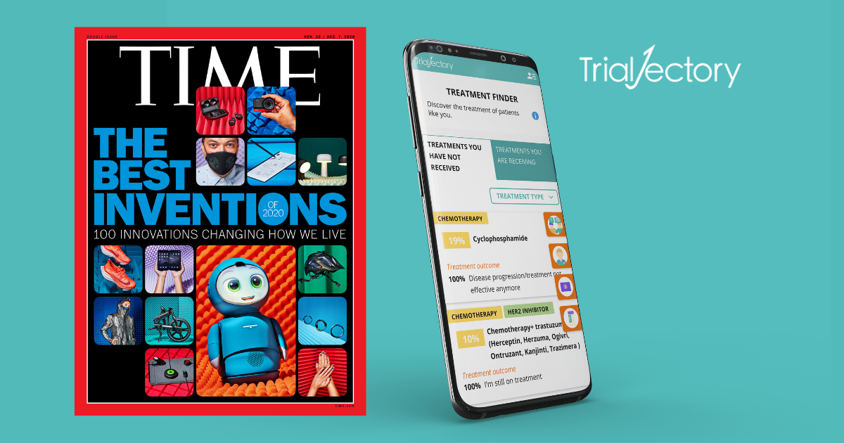 TIME Selects TrialJectory's AI-Powered, Clinical Trial-Matching Platform for '100 Best Inventions of 2020' List